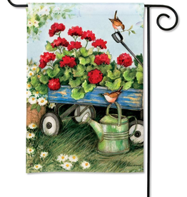 Garden Flag - Geraniums by the Dozen