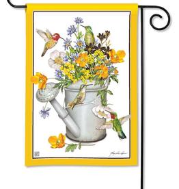 Garden Flag - Hummingbird Feast