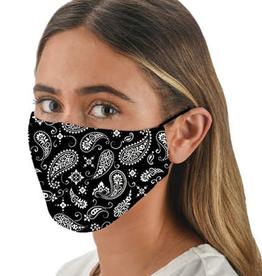Snoozies Black Bandana Fashion Face Covering