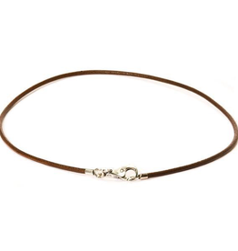 TROLLBEADS-Necklace Leather Brown 19.7 inch