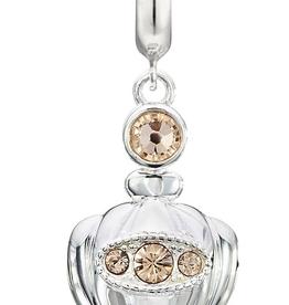 Chamilia Sterling Silver - Love Potion Locket - Light Peach Swarovski Crystal & Rose Gold Plating