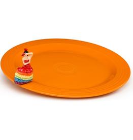 Nora Fleming - Round Platter & Dancing Lady Mini