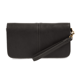 Joy Susan - Black Mia Multi Pocket Crossbody Clutch