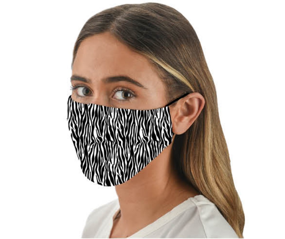 Snoozies Zebra Fashion Face Coverings