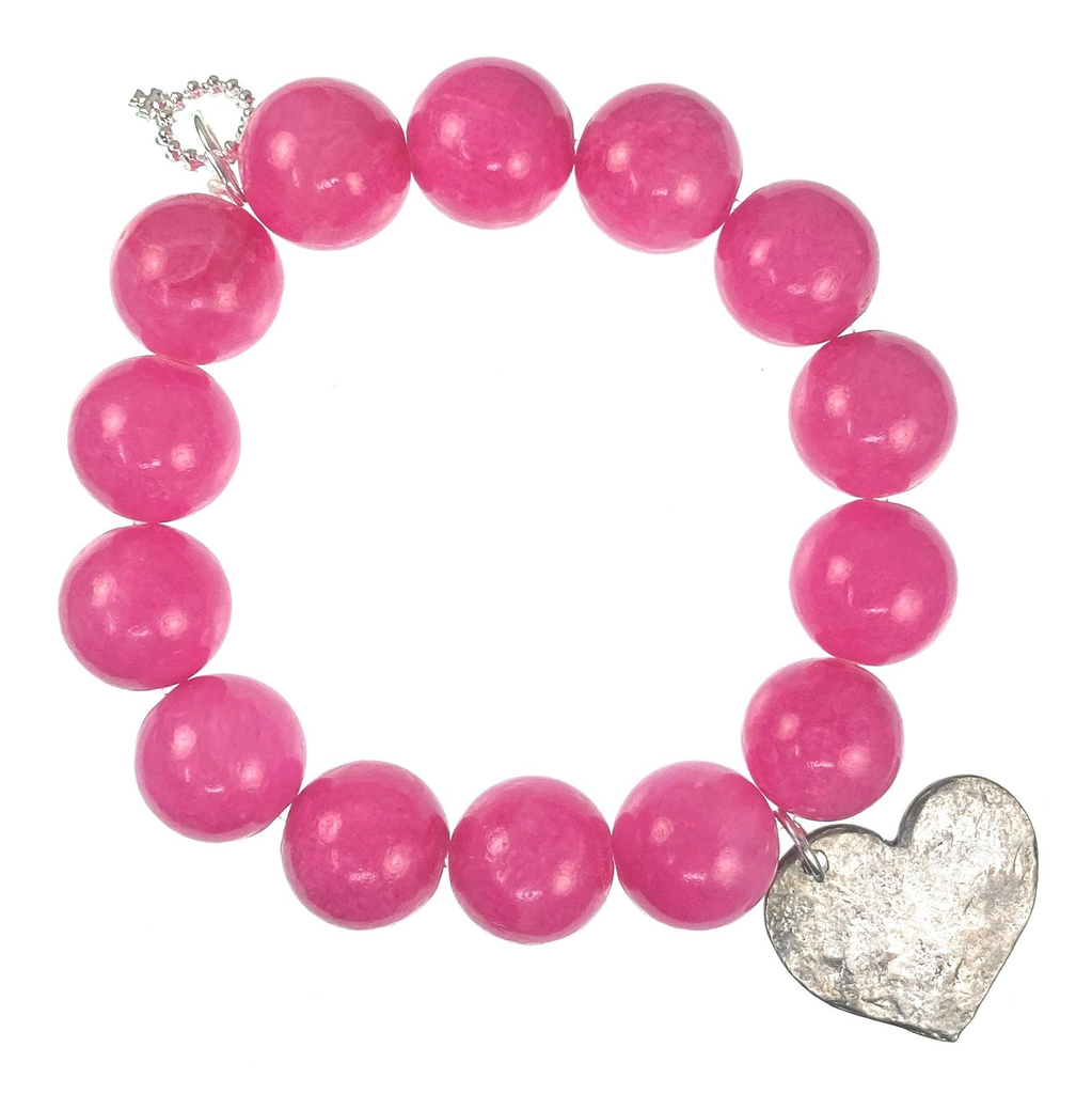 PowerBeads by Jen - Agate with Heart Attachment