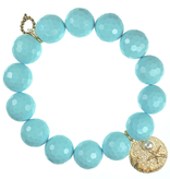 PowerBeads by Jen - Agate with Beach Pearl Attachment