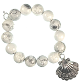PowerBeads by Jen - Howlite with Seashell Attachment