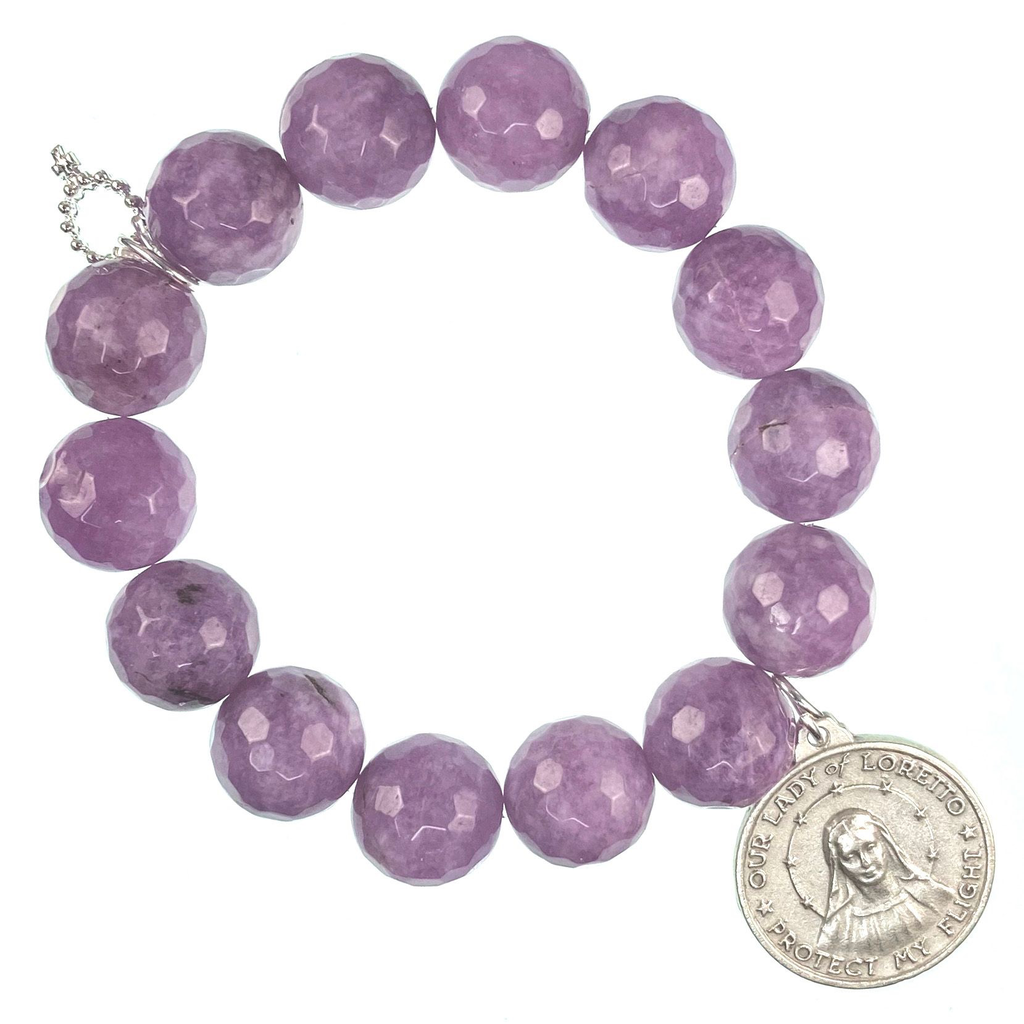 PowerBeads by Jen - Agate with Lady of Loretto Attachment