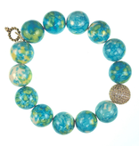 PowerBeads by Jen - Agate with Gold Attachment