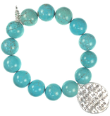 PowerBeads by Jen - Howlite with Beach Attachment