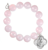 PowerBeads by Jen - Opalite with Holy Family Attachment