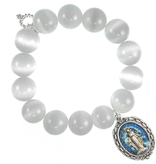 PowerBeads by Jen - Calcite with Blessed Mother Attachment