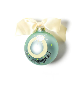 Coton Colors - Just Engaged 2 Glass Ornament