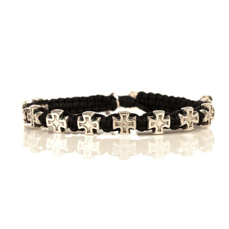 Faith Blessing Bracelet - Silver Medal-Black