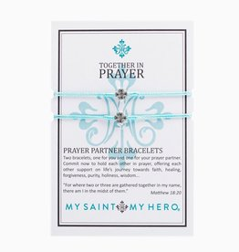 My Saint My Hero - Prayer Partner Bracelets - Mint/Silver