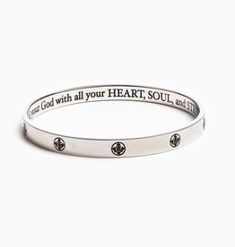 My Saint My Hero - The Greatest Love Deuteronomy 6:5 Bangle - Silver - Average