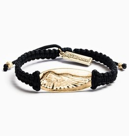 Soar in Remembrance Bracelet Black/Gold