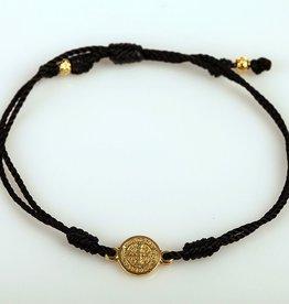 My Saint My Hero - Breathe Blessing Bracelet - Gold Medal -Black
