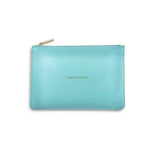 Katie Loxton The Perfect Pouch - Adventure Awaits - Metallic Aqua