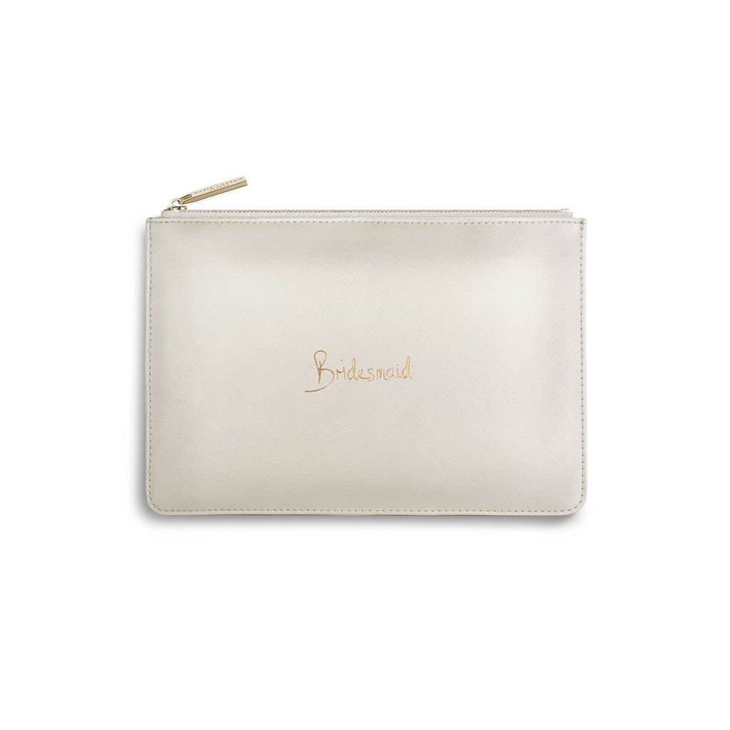 Katie Loxton The Perfect Pouch - Bridesmaid Metallic White