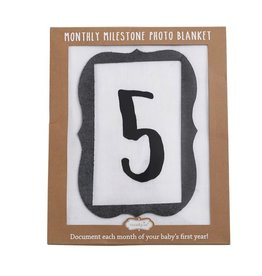 Mud Pie Monthly Milestone Photo Blanket