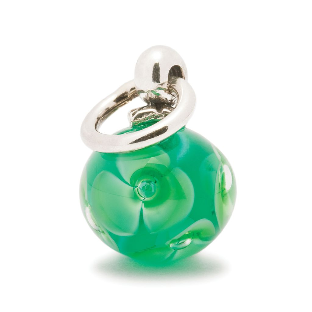 Green Flower Tassel Bead