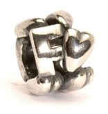 Letter Bead F, Silver