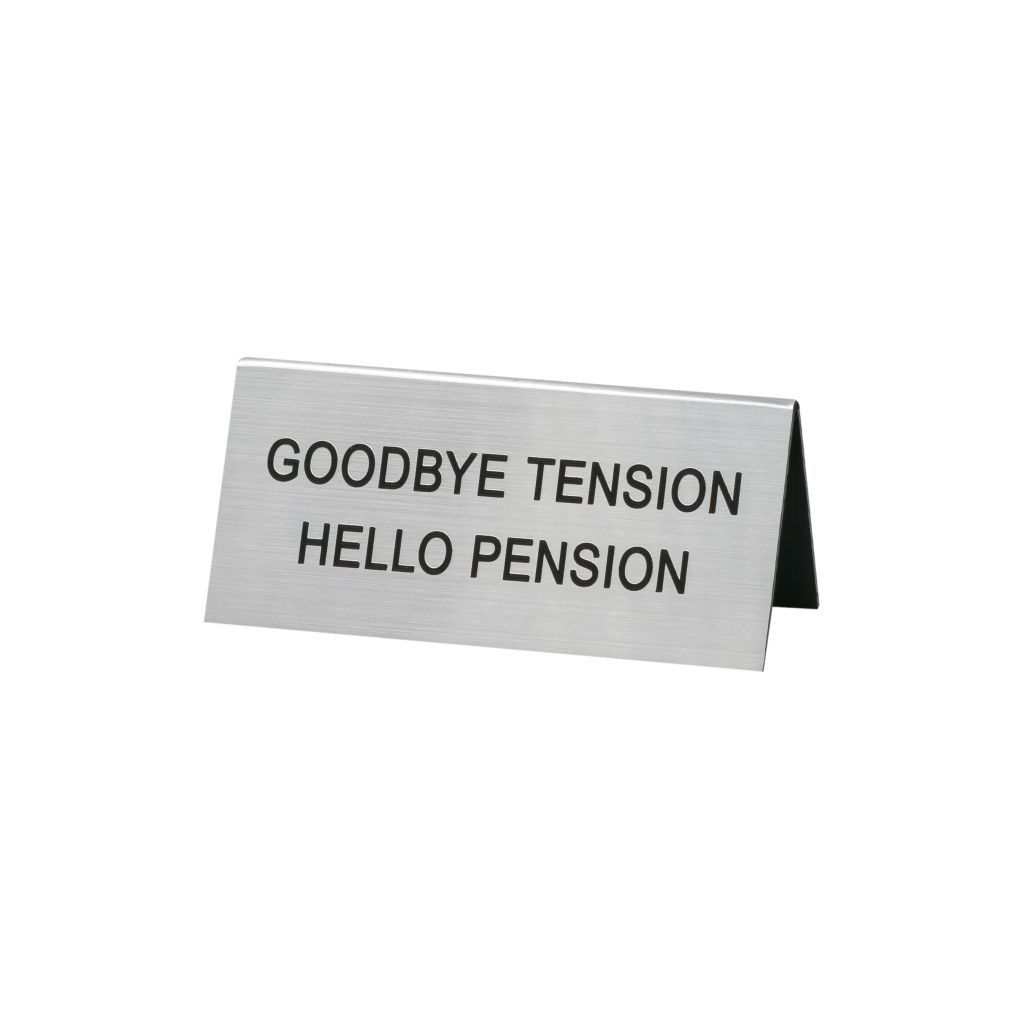 About Face Designs: Hello Pension Sign
