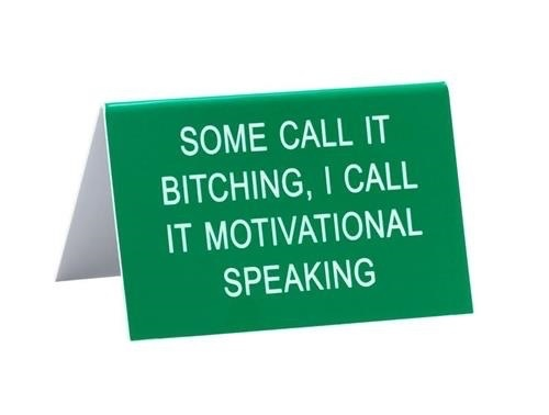 About Face Designs: Motivational Speaking Sign