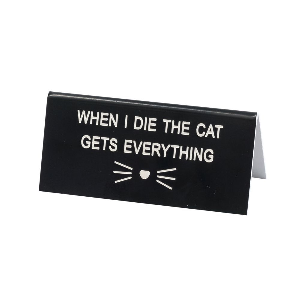 About Face Designs: Cat Gets Everything Sign