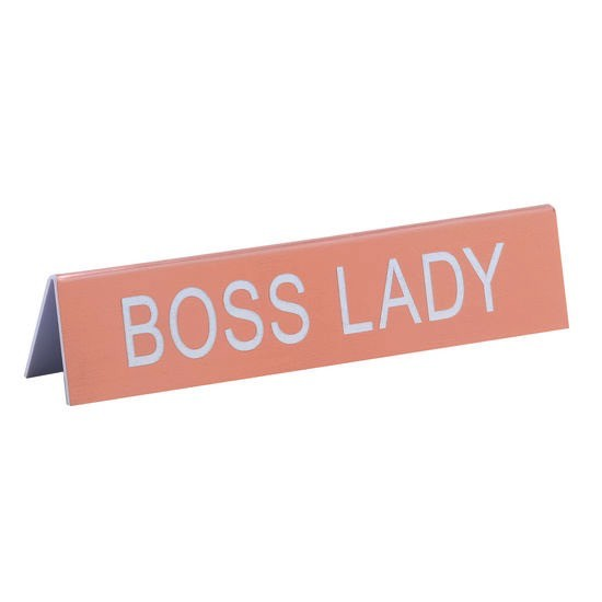 About Face Designs: Boss Lady Sign
