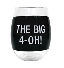 About Face Designs - The Big 4 Oh Wine Glass