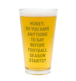 About Face Designs: Football Season Pint Glass