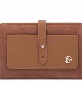Spartina 449 Suede Snap Wallet Gingerbread