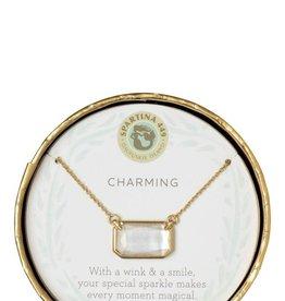 "Spartina 449 Sea La Vie Necklace 17"" Charming/Pearlescent"