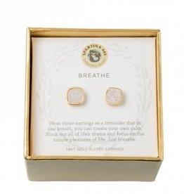 Spartina 449 Sea La Vie Stud Earrings Breathe/Cream Druzy