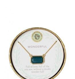 "Spartina 449 Sea La Vie Necklace 17"" Wonderful/Deep Teal Jade"