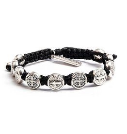 Confirmation Bracelet - Silver Medal & Black
