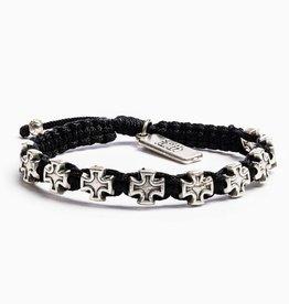 My Saint My Hero - Faith Blessing Bracelet - Slate/Silver
