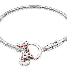 Chamilia Minnie Mouse Toggle Bracelet - Red Swarovski 7.9in