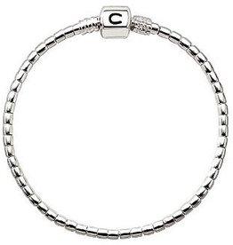 Chamilia Terrazzo  Silver Beaded Snap Bracelet (7.5 in.)