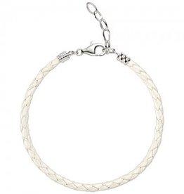 Chamilia One Size White Metallic Braided Leather Bracelet