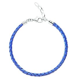Chamilia One Size Blue Metallic Braided Leather Bracelet