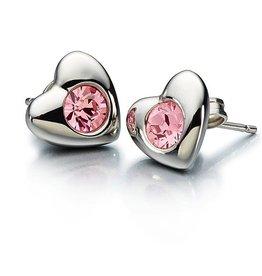 Chamilia Radiant Heart Earrings - Pink Swarovski
