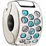 Chamilia Glimmer Lock - Blue and Clear Swarovski