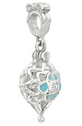 Chamillia Sterling Silver w Stone - North Star Charm - Crystal AB Swarovski