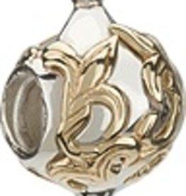 Chamilia Silver & 14K Gold - Gold Fleur de Lis Ornament
