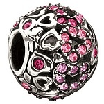 Chamilia Captured Hearts- Pink Swarovski