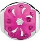 Chamilia Radiant Blooms-Sister - Fuchsia Swarovski and Pink Enamel