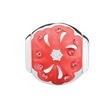Chamilia Radiant Blooms-Daughter-Padparadscha Swarovski Crystal & Coral Enamel